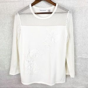 Alfred Dunner 3/4 Sleeve Pullover Blouse Small